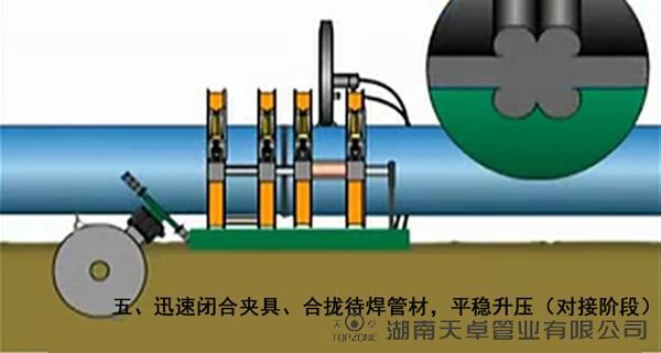 PE给水管热熔对接6