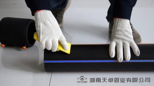 PE管电熔焊接操作步骤2