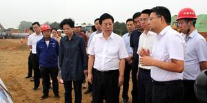 长沙市委书记胡衡华督察长沙天卓管道安装项目
