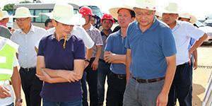 长沙市副市长廖建华调研天卓塑胶供管的岳麓污水处理厂尾水排放项目